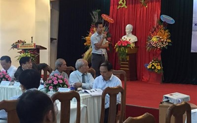 Mr. Tran Duy Phuc spoke at the conference
