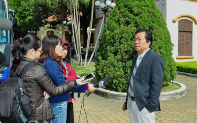Mr. Tran Duy Canh gave an interview